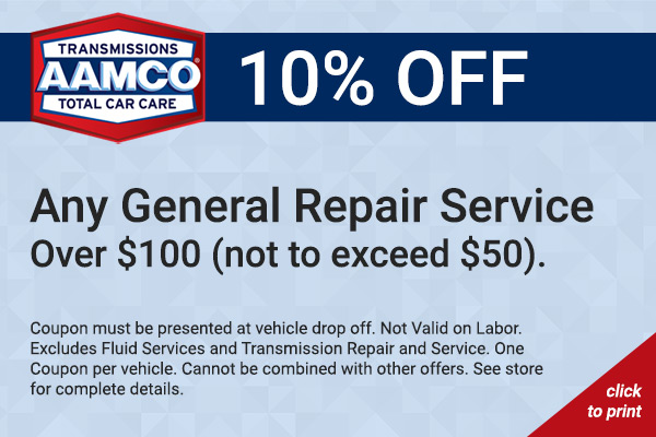 10% off any general repair service coupon